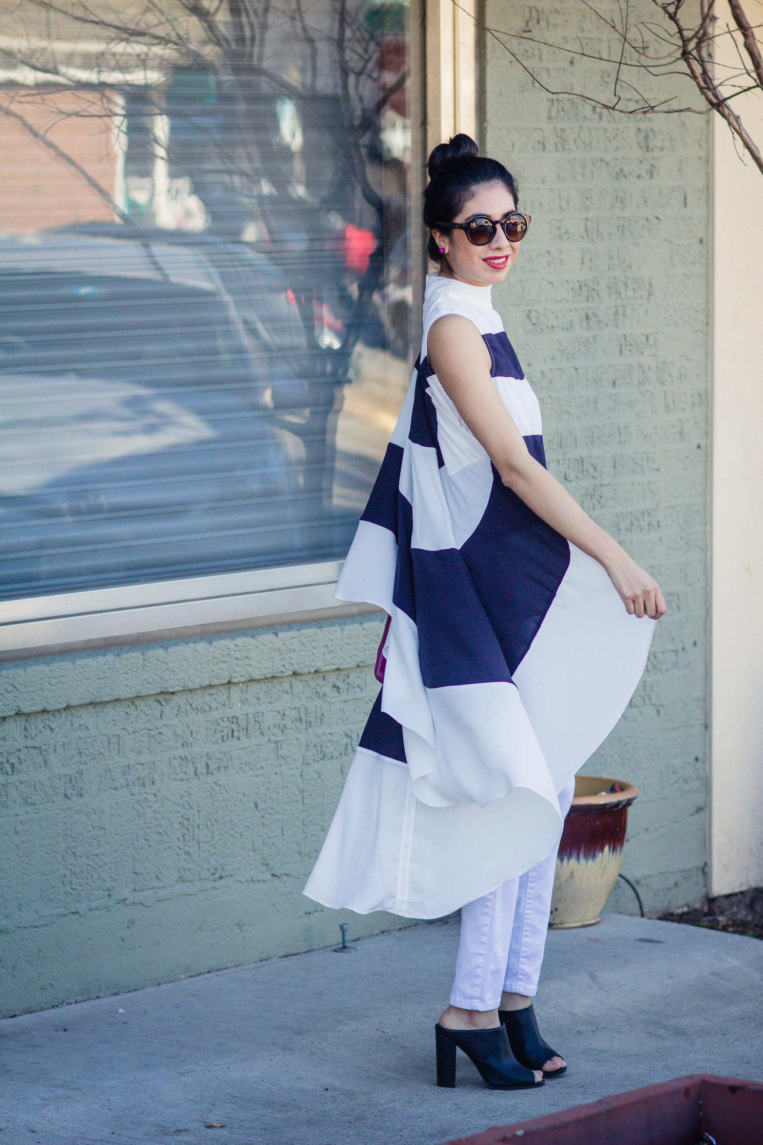 Vanessa navy stripe top-4