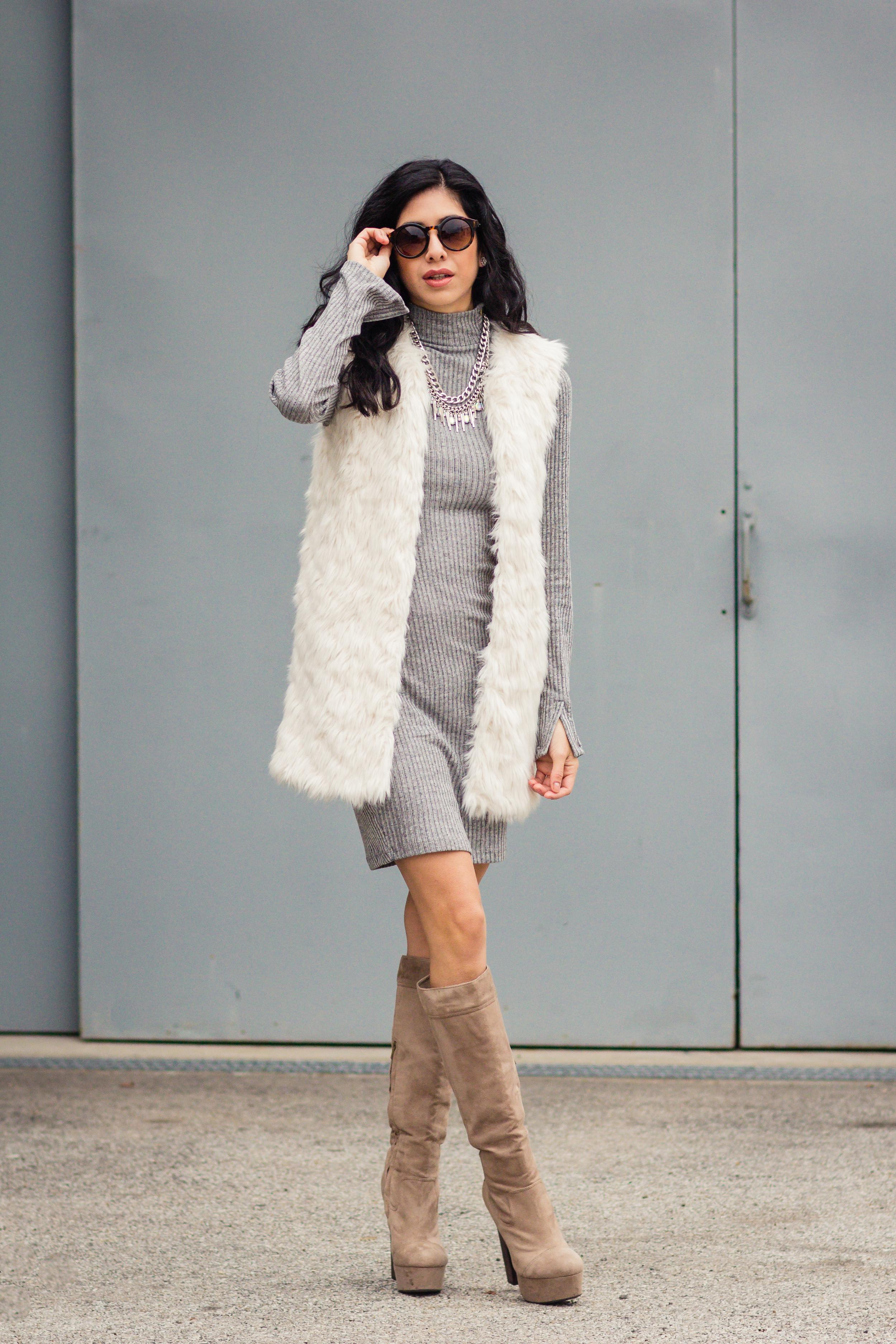 Vanessa white fur vest-5651