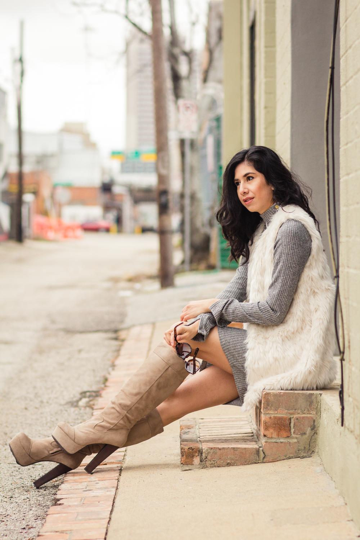 Vanessa white fur vest-5762