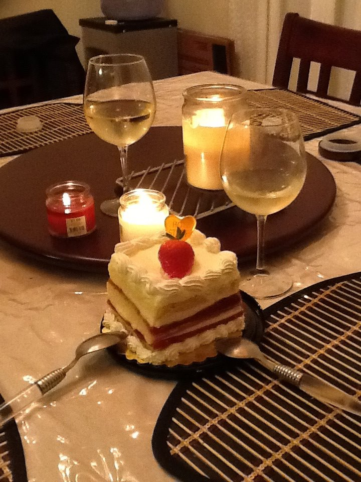 Valentine's 2012. We were broke so this is how we spent it :) Hmmm maybe we shall have a redo of this!?? lol