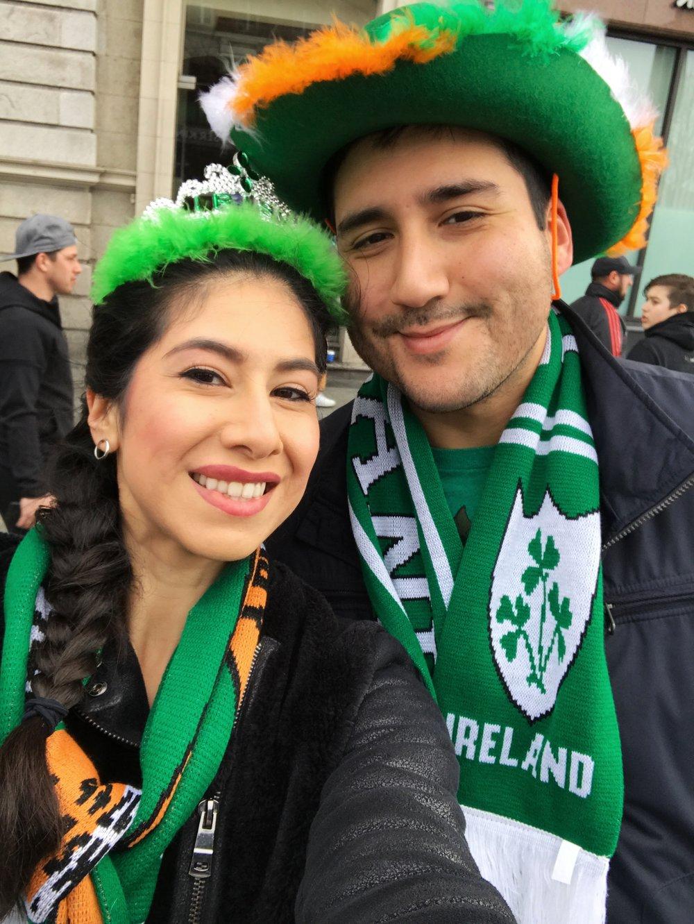 Total enjoying the parade!