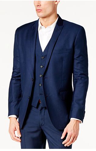 Navy Blue Blazer for Men slim fit