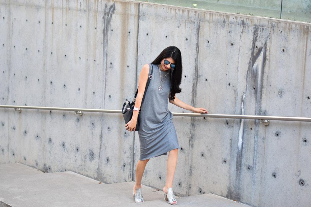 Grey Shift Dress Vanessa in Dallas