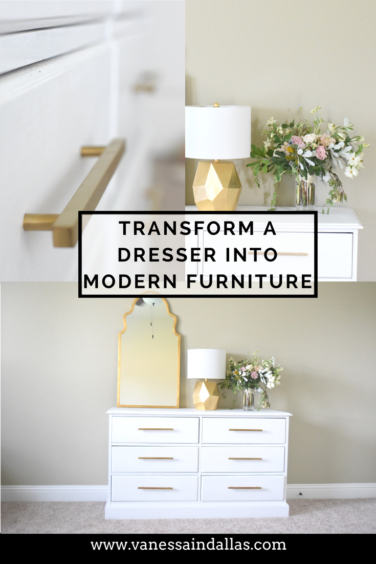 PInterest Transforming a Dresser into Modern Furniture