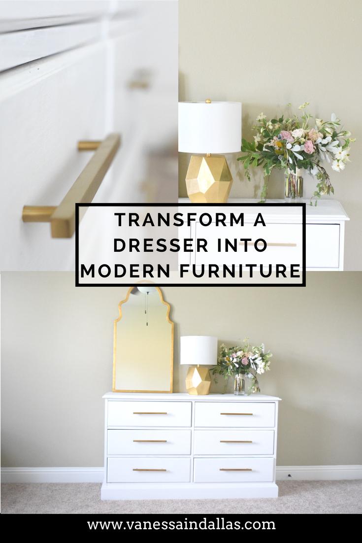 PInterest Transforming a Dresser into Modern Furniture