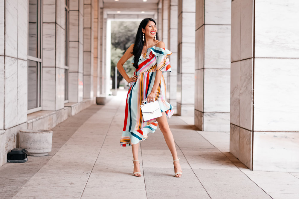 Bold Colorful Stripes Dress