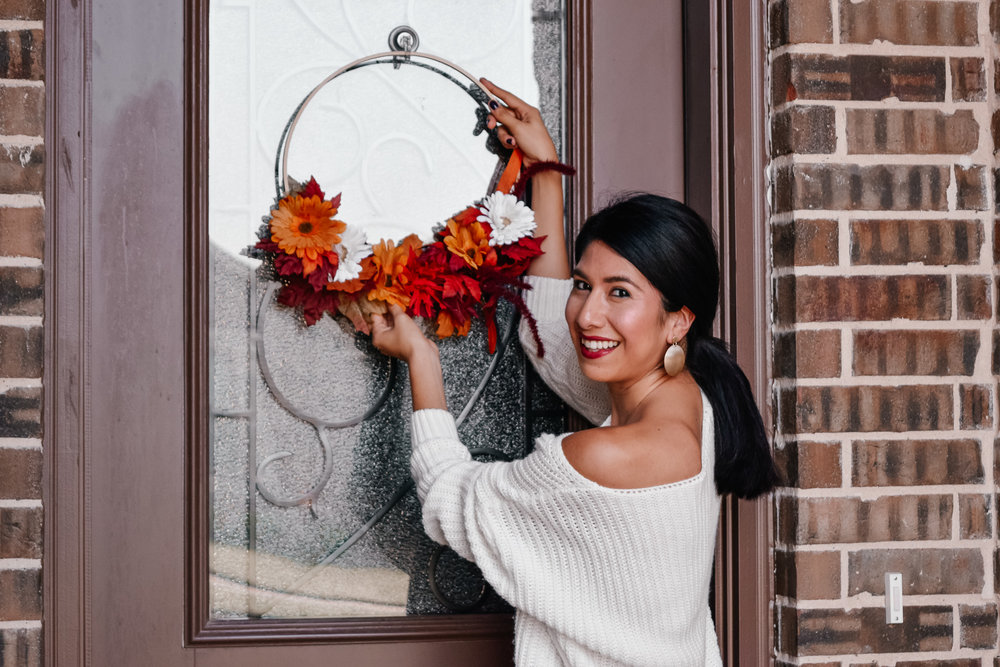 Simple Fall Wreath Decor