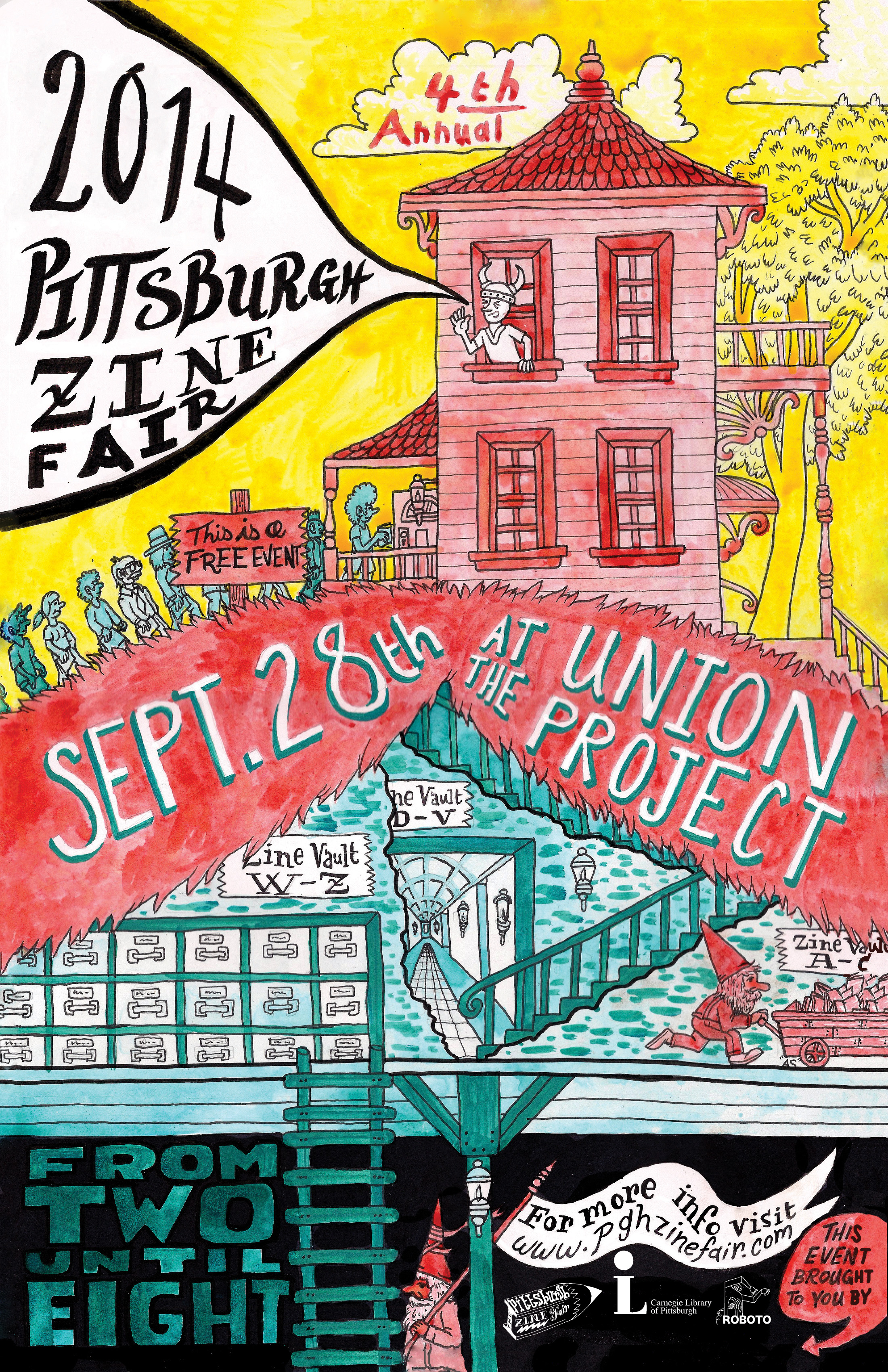 2014 Pittsburgh Zine Fair Poster