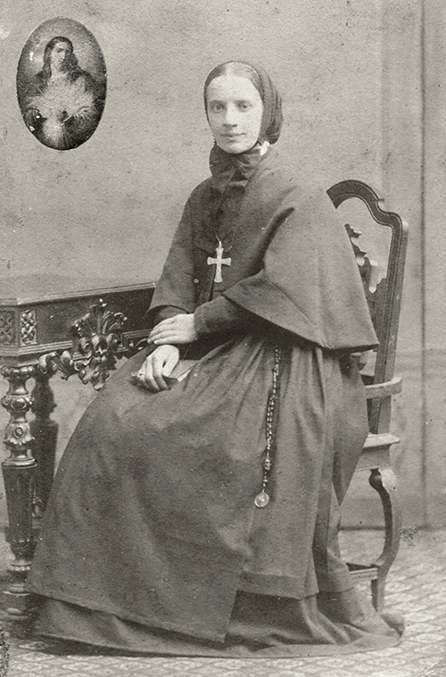 Frances Xavier Cabrini wearing the original habit of the Missionary Sisters of the Sacred Heart of Jesus. 1880. Courtesy of The Cabrinian Museum, Center for Spirituality, Codogno, Italy.