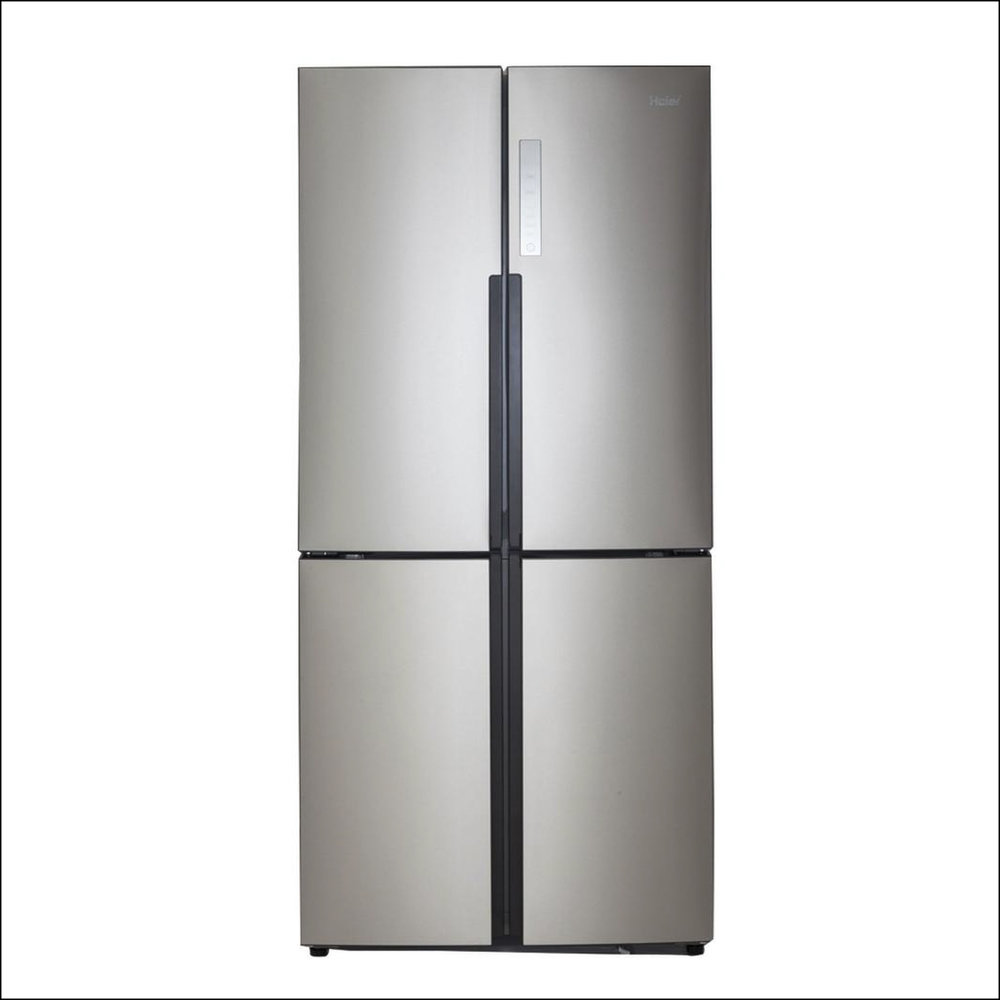 Stainless steel French door freezer/refrigerator