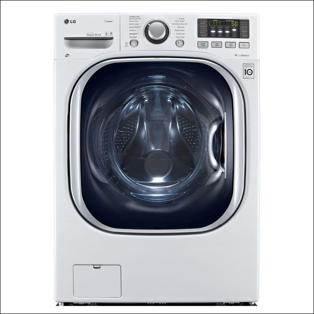 All-in-one washer and electric ventless dryer in white