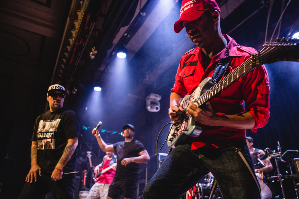 Prophets of Rage perform at the Warsaw in Brooklyn, NY on June 5th, 2016 after GovBall's Sunday cancellation.