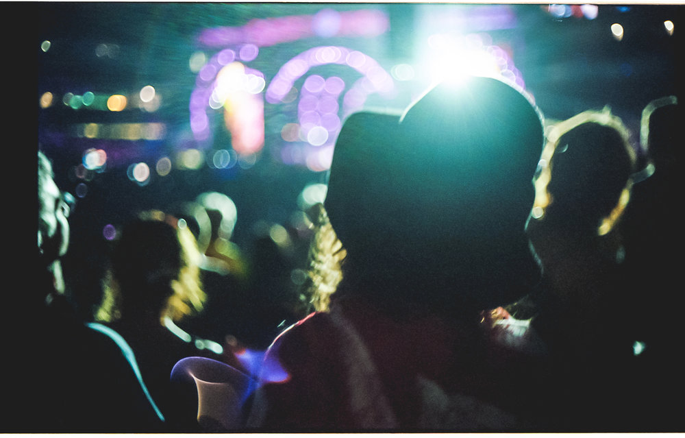 My sister, Katie at the Grateful Dead's Fare Thee Well concert. Soldier Field, Chicago. July 2015.Kodak Portra 400 with Canonet QL17