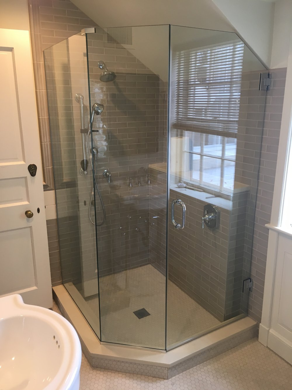 Neo Angle Enclosure - Save space in your bathroom with a neo angle enclosure.