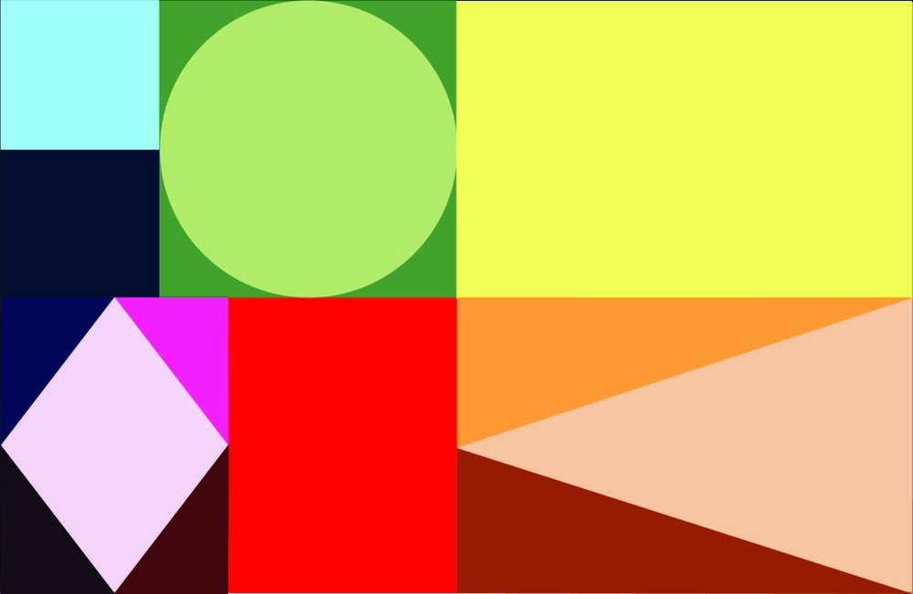 LEWIE LOUISE COLOR THEORY CARDS / SHAPE BREAKDOWN