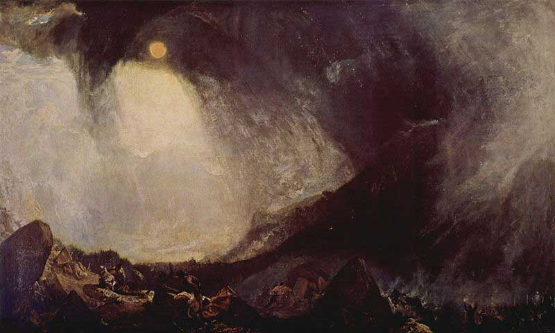 Snow Storm: Hannibal and His Army Crossing the Alps by Joseph Mallord William Turner