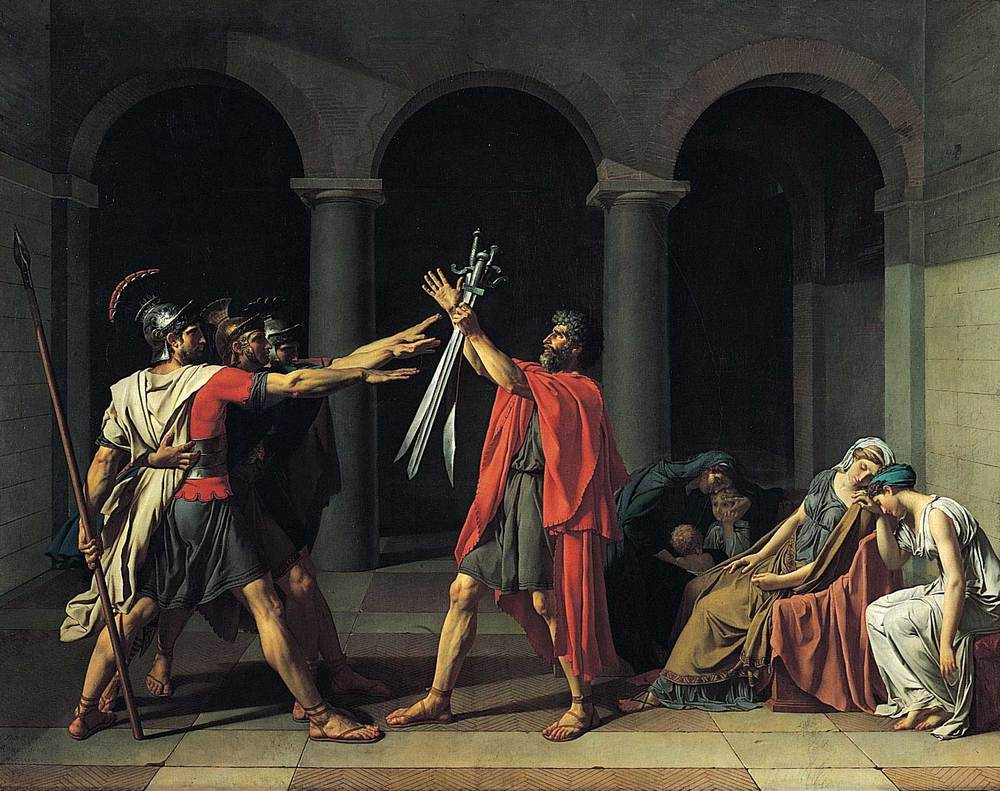 Oath of the Horatii by Jacques Louis-David