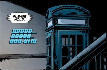 Blue phone box, see?