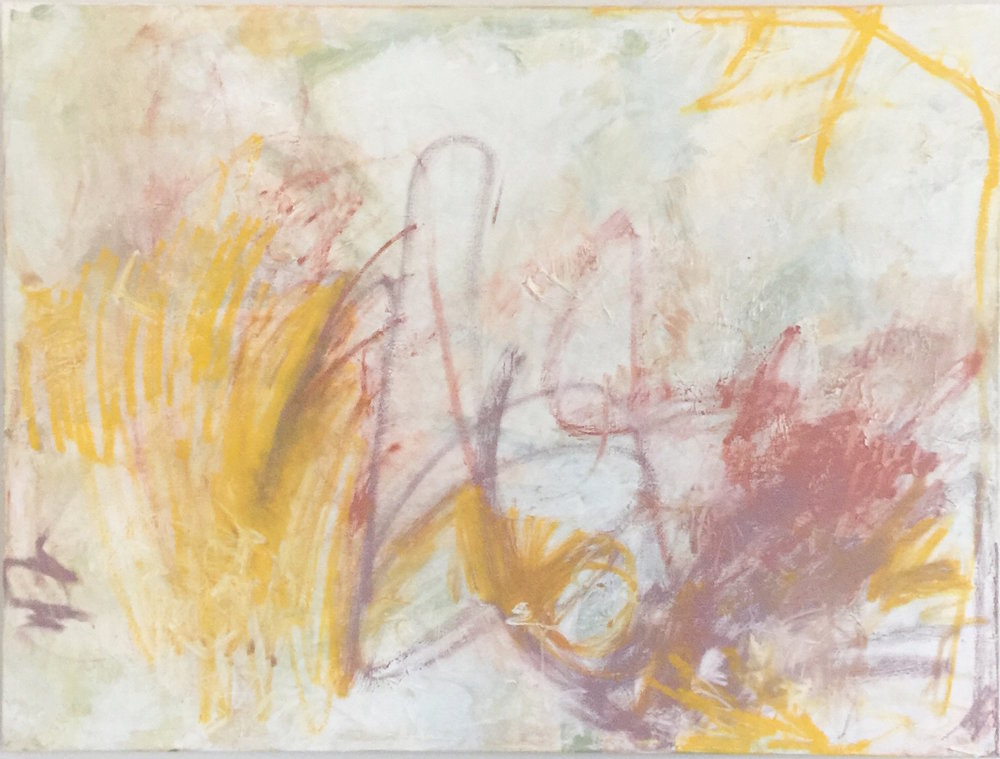 "Blocks and Babies, Integration I, 24x36"", acrylic on canvas"