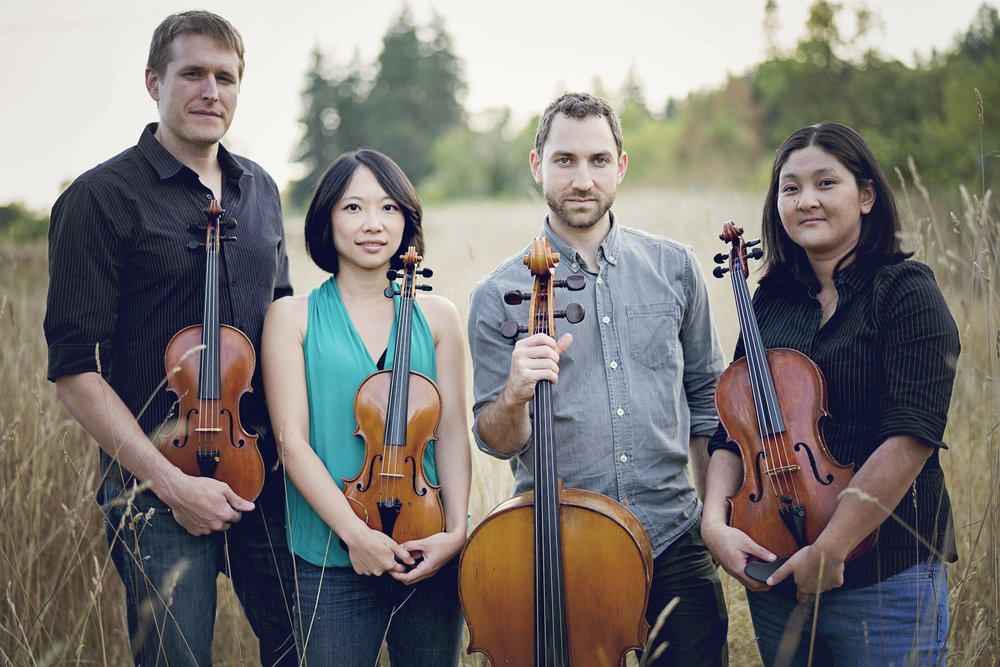 "Praised as a ""welcome addition to Oregon music"" and ""one of Eugene's coolest new ensembles,"" by Eugene Weekly, Delgani String Quartet has quickly become one of the most active chamber music ensembles in the Pacific Northwest with over 60 performances and educational programs each year. Programming for their 2016/2017 season, entitled ""Astonished By Music,"" includes repertoire by some of the most celebrated classical composers, seldom-heard works for marimba and quartet, and world premieres of three new compositions. In addition to season performances in both Eugene and Salem, Delgani has been invited to perform selections at the Metropolitan Museum of Art in New York City this spring. http://www.delgani.org"