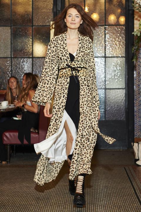 Leopard print jacket @ Cinq-a-Sept