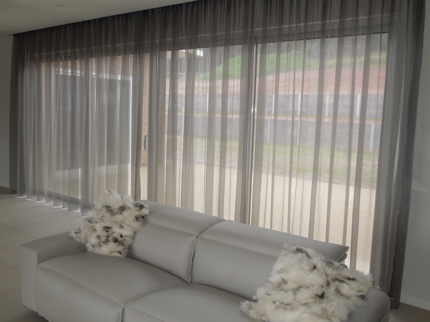 Sheer curtains over roman blinds Curtains and blinds