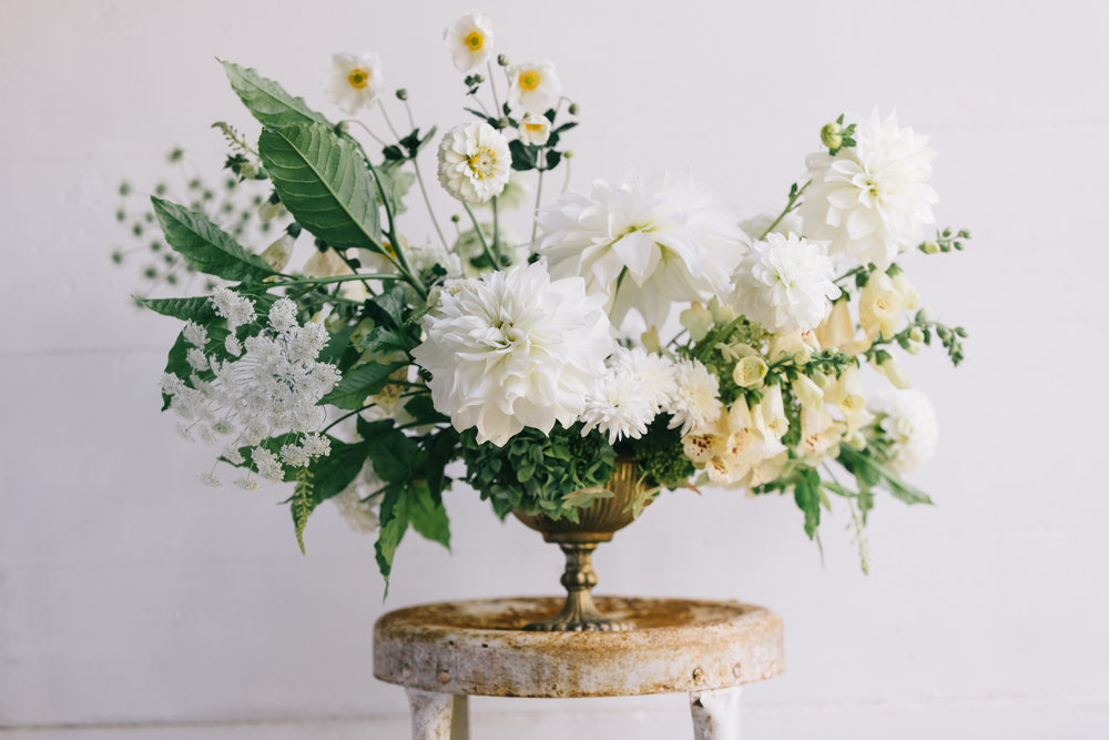Arrangement by Mandi at Blue Ridge Blooms  Anna Hedges Photography