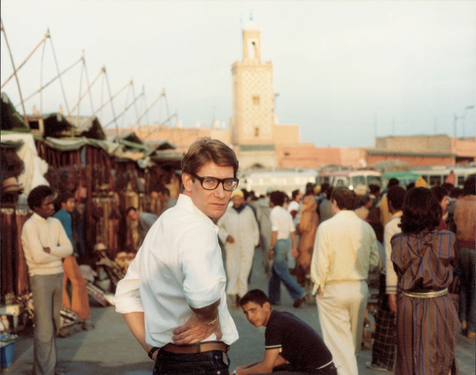 photo credit: YVES SAINT LAURENT IN DJEMAA EL FNA SQUARE IN MARRAKESH. © REGINALD GRAY