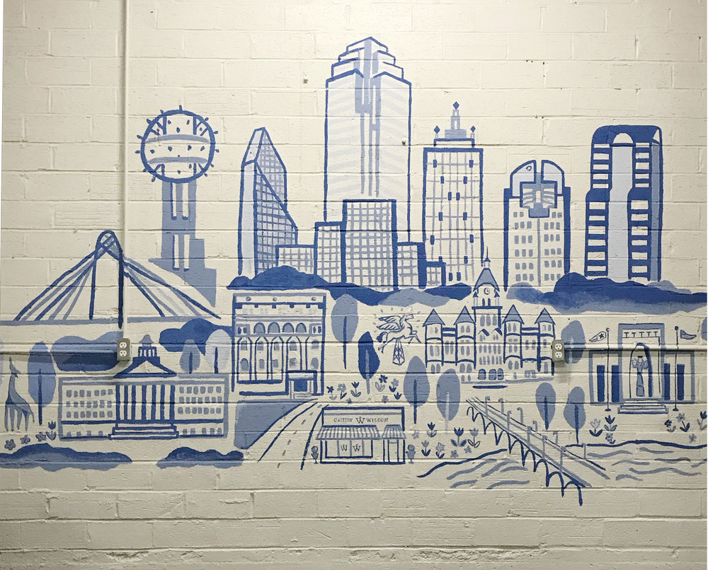 Caitlin Wilson Design, Mural for Dallas Store