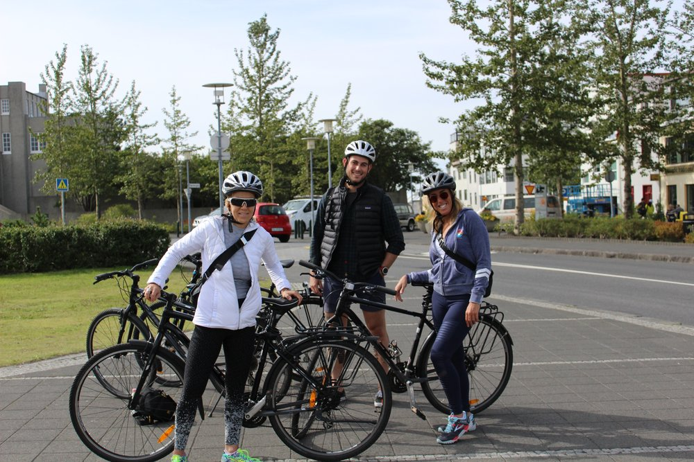 Biking and Through Iceland