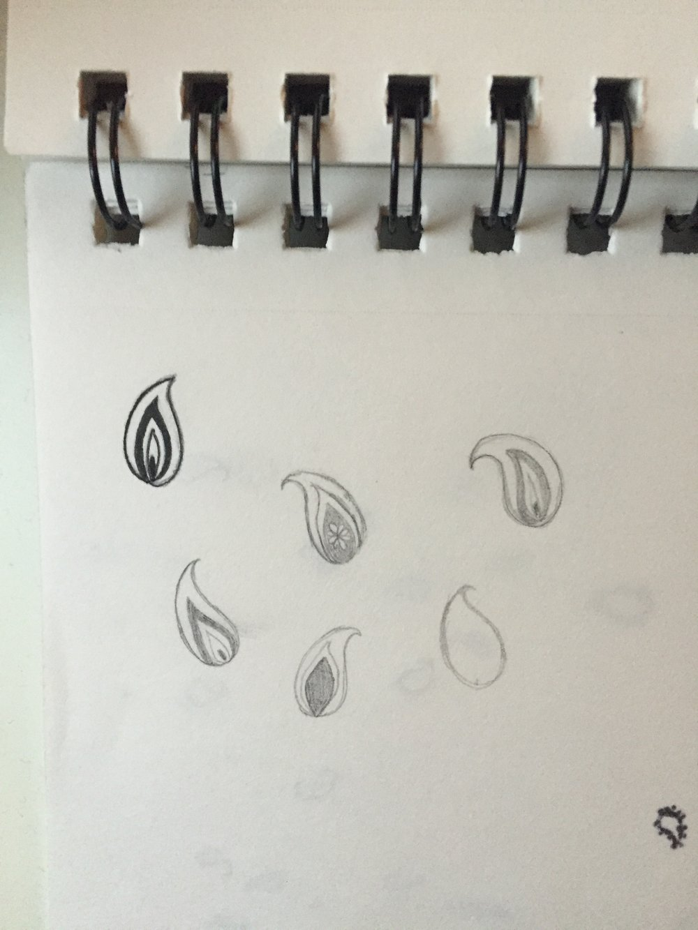 Paisley print brainstorming