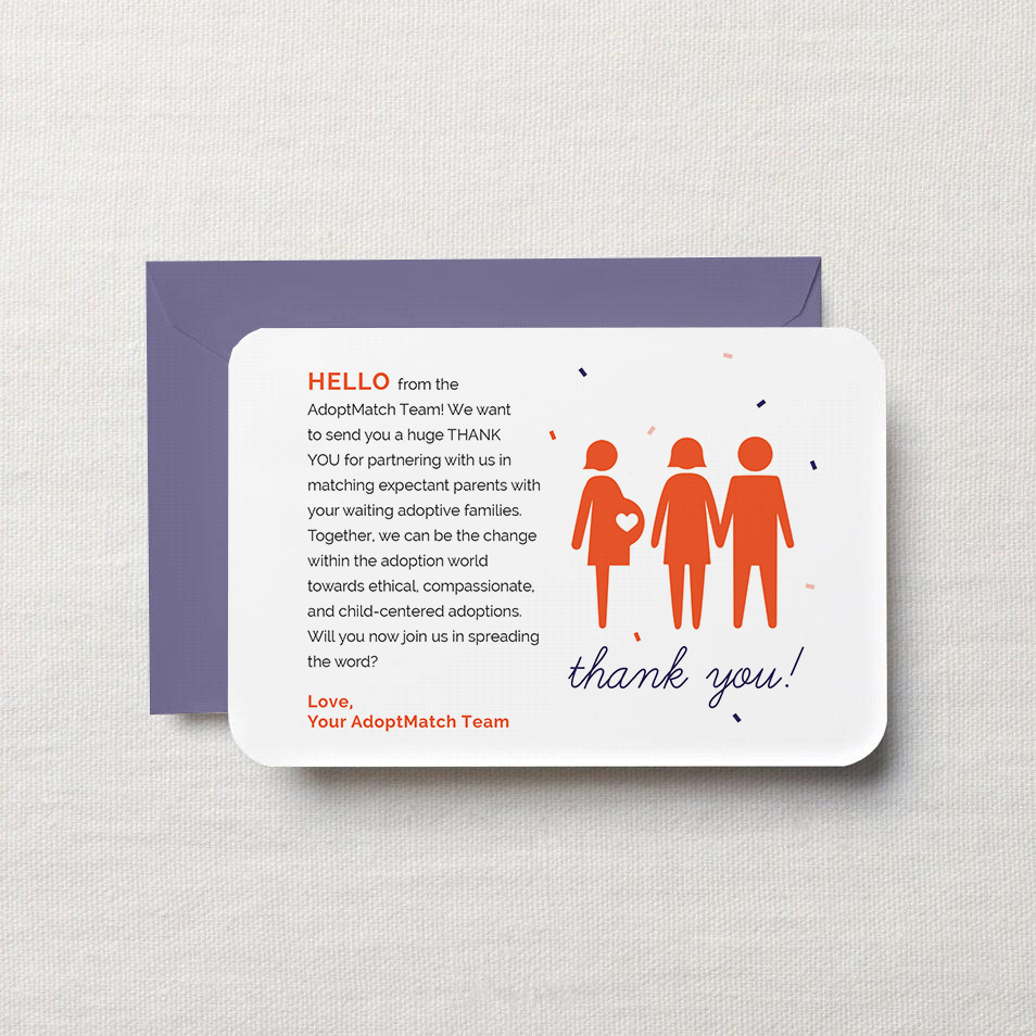 AdoptMatch Thank You Card