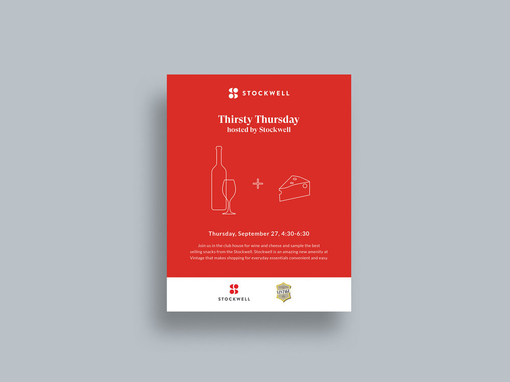 Custom illustrations | Stockwell promotional event flyer