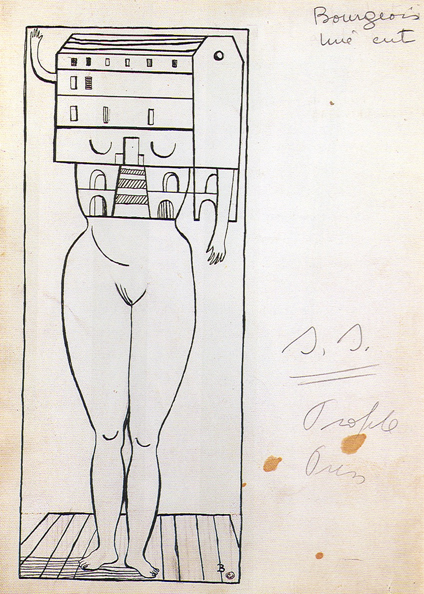 Louise Bourgeois,  Femme Maison , 1947, ink on paper, 9-15/16 x 7-1/8 in., Solomon R. Guggenheim Museum, New York © Louise Bourgeois