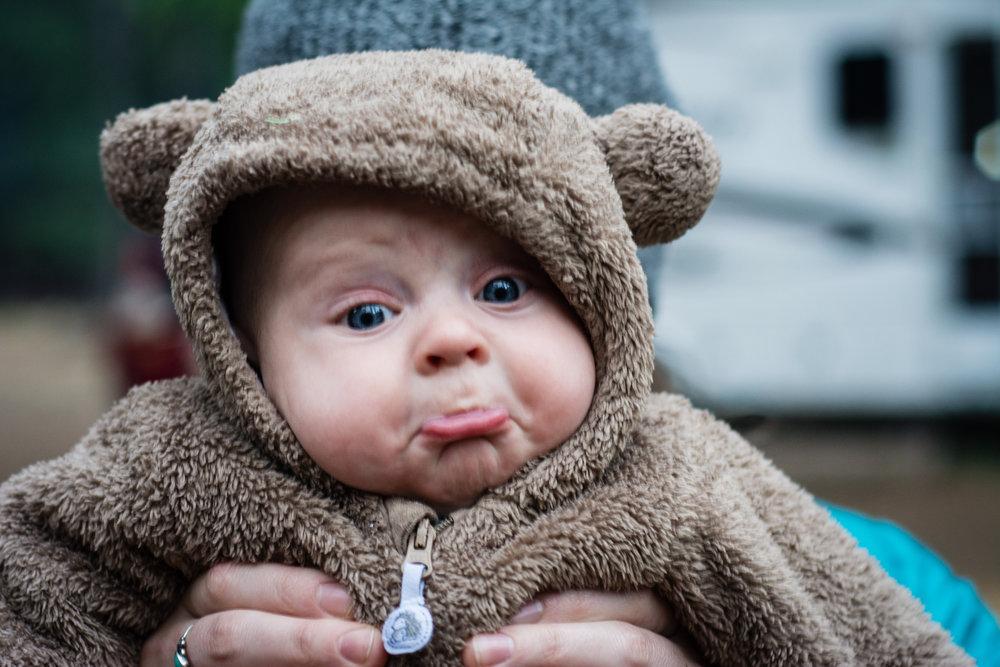Sad baby bear.