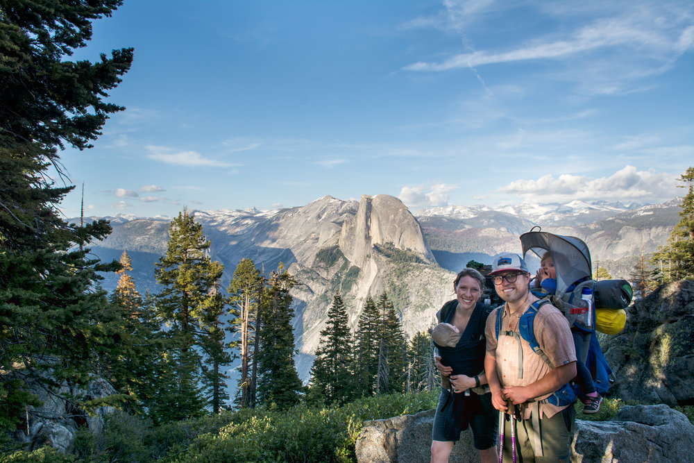 This is us shortly before Glacier Point. We look a lot better than we feel.