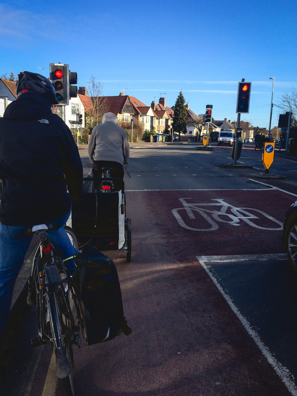 Cambridge has wonderful bike lanes, making cycling that much easier. But what truly makes cycling in Cambridge better is that there are so many people that bike everywhere. Ashley calls it 'power in numbers'.