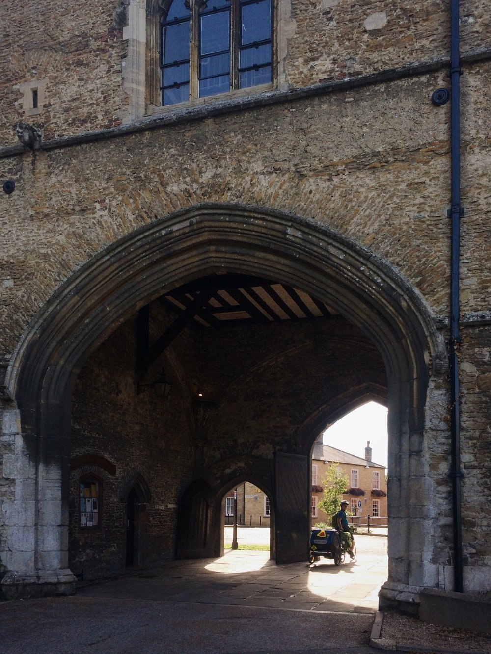 The arch at the Ely Cathedral Gate House.