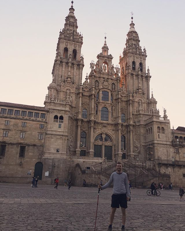 #Day20 Santiago de Compostela  Made it! We walked under a full moon to arrive at a near empty square. A couple of days to celebrate here and then the last few days in Porto...