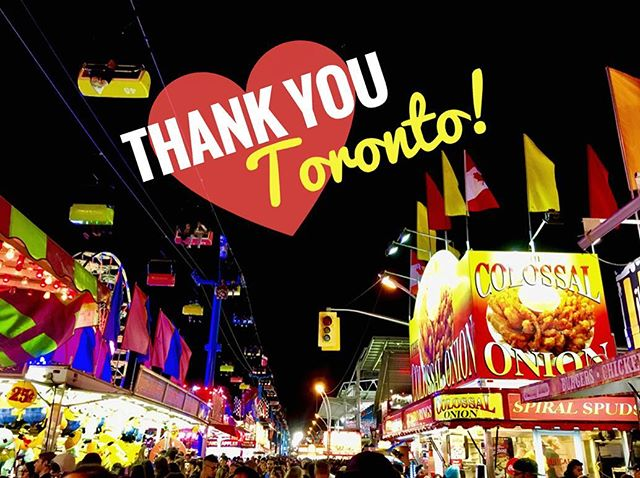 Thank you to all of the wonderful customers that stopped by during #CNE2017!💛 It's a long 18 days for our crew, but seeing your smiling faces, and knowing so many of you look forward to this each and every year makes it all worth while!😄🎉 . . We also wanted to take the time to apologize for anyone who waited in line on Saturday, September 3rd - our busiest day of the Ex - WE KNOW IT WAS A LONG WAIT! The shipment of onions we received for the final weekend proved to be fussy going through the cutting process, slowing down our well-oil machine. We did our very best to pump out top-quality Colossal Onions and move the line as quickly as possible. If your experience was anything less than expected, stick with us and we'll make sure you receive the Onion you know and love during #CNE2018! Cheers, The Colossal Onion Team🤗