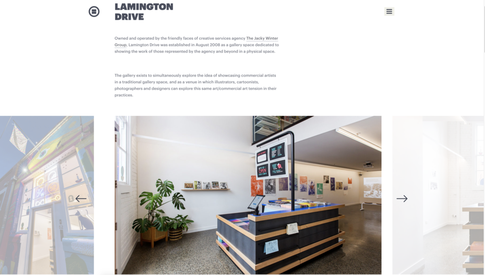 Some of my photographs in situ on the  Jacky Winter  /  Lamington Drive  website.