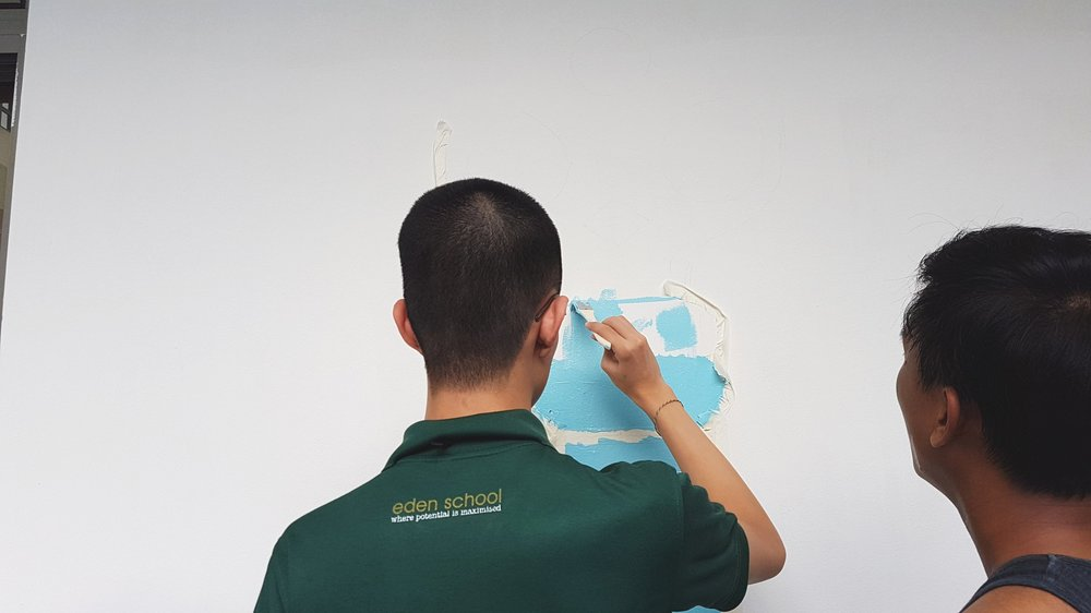 Mural Painting Workshop  at EDEN School