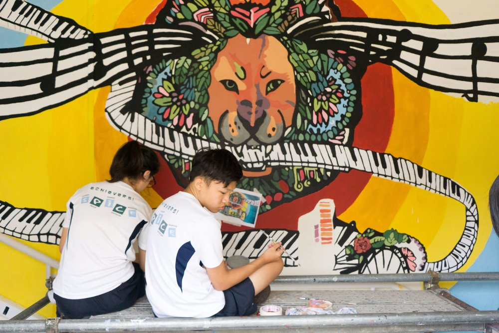 Broadrick Secondary School  Mural Workshop