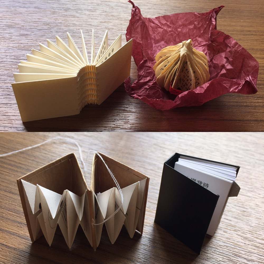 We also collect miniature books made by local Hong Kong artists. These are published by a group called Eggwich.