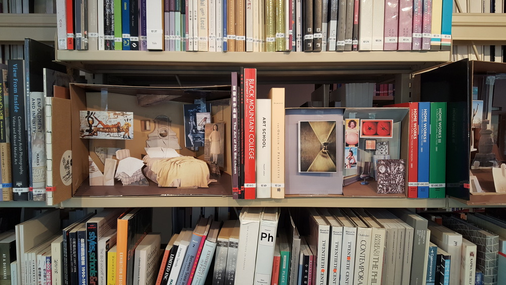 Just some of the eclectic treasures to be found on the shelves of the Asia Art Archive.