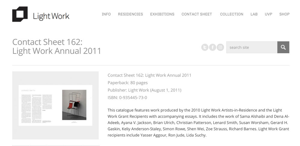 Light Work Artist Residency Program
