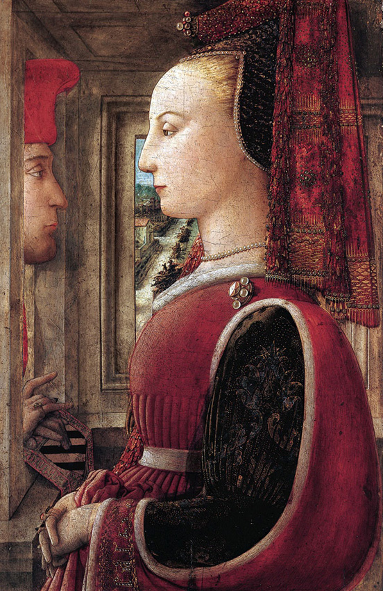 Filippo Lippi , Portrait of a Man and a Woman at a Casement , c. 1440