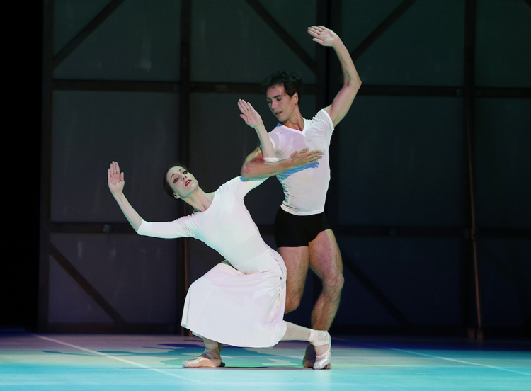 Leanne Stojmenov and Alexandre Riabko in  Nijinsky , photographed by Jeff Busby