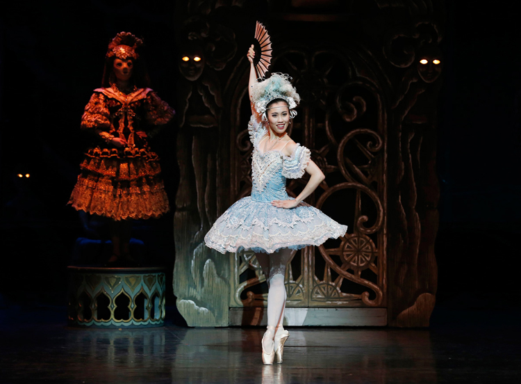 Ako Kondo in The Australian Ballet's  Coppélia , photographed by Jeff Busby