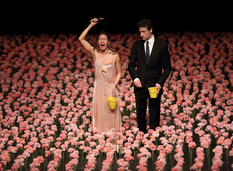 Tanztheater Wuppertal Pina Bausch performing  Nelken  at the Adelaide Festival, 2016, photographed by Tony Lewis